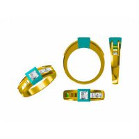 305L钛钢复古女式戒指批发 英语 玉女戒指—粉晶首饰定做厂家