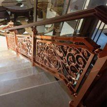 镀金铜艺楼梯护栏 铜楼梯护栏多少钱一米