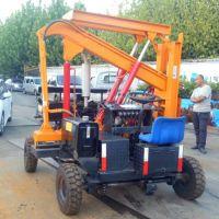 专业全液压高速路波形护栏施工打桩机