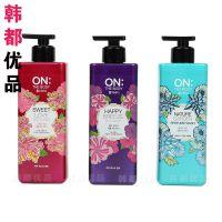 韩国进口正品 LG ON THE BODY 香水 花香沐浴露 紫色绿粉色蓝色