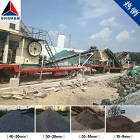 西藏那曲县汽车式破碎机助力高速铁路铺路