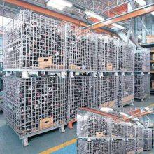 有效的节约了劳动成本,提高了生产效率,规范生产车间的折叠式仓储笼