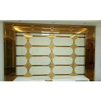 艺术玻璃拼镜客厅餐厅电视背景墙菱形镜子车边拼镜白银镜茶镜拼花