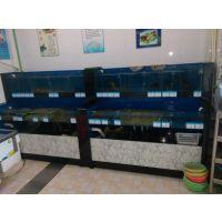 江阴鱼缸定做酒店海鲜鱼缸观赏鱼缸大闸蟹鱼缸维修