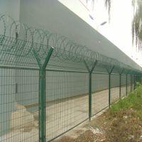 朋英厂家直销监狱护栏网浸塑低碳钢丝监狱护栏网订做