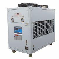 厂家直供5P工业恒温冷水机组 食品加工控温用风冷式冷水机 冰冻机