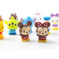 工厂定制米奇米妮小熊维尼可爱软胶公仔搪胶摆件儿童玩具礼物