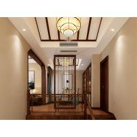 远洋高尔夫装修方案|中式风格别墅设计效果图|巴南天古装饰