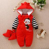 婴儿衣服秋冬加厚保暖宝宝连体衣新生儿棉连身衣儿童纯棉爬服哈衣