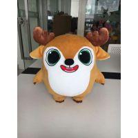 长亿品牌正版爱奇艺《无敌小鹿》电影同步公仔 毛绒玩具