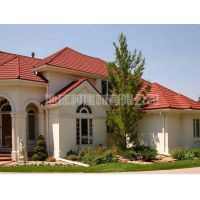 山东出口各种彩石瓦 新型屋面建材 彩石金属屋顶瓦