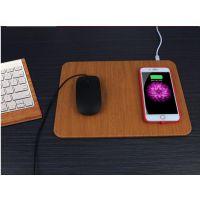 办公无线充鼠标垫 无线接收器防滑皮垫 手机智能传感器鼠标垫XWL-XPSBD