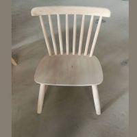 餐厅客厅新款实木温莎椅白坯简约椅子白茬欧式实木餐椅厂家热销