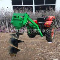 四轮拖拉机立杆挖坑机 1米深 硬土质打洞机果园专用硬土挖坑机
