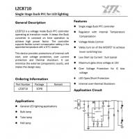 菱奇LZC8720-LZC8710温度自设驱动IC/非隔离 /高PF(50W-100W)全套方案支持