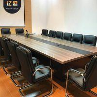 批发简约家具办公桌会议桌椅定制员工培训会议桌洽谈桌产地货源