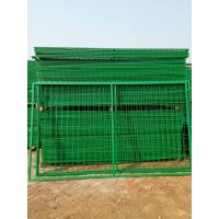 开封现货护栏网、浸塑双边丝、框架防护网、三角折弯桃型柱、哪家质量好