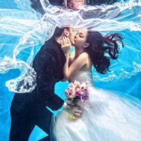 重庆大渡口婚纱照水上美人鱼婚纱摄影韩式婚纱外景