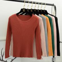 秋季韩版女装杂款针织衫坑条毛衣女 库存外贸修身毛衣打底衫批发