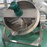 厂家直销不锈钢蒸汽式夹层锅 可傾式刮底搅拌熬粥锅等炊具 质优价廉