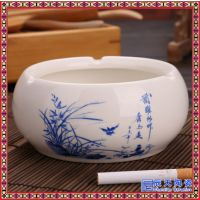 时尚中式陶瓷创意烟缸客厅办公室KTV个性烟灰缸摆件