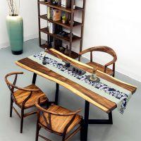 胡桃木实木大板南美花梨原木餐桌简约茶几办公桌书桌茶台咖啡桌现货