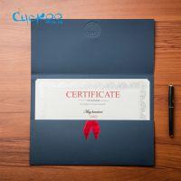 布谷鸟900386荣誉证书封皮定做A4奖状定制创意封套授权聘书颁奖奖品三折外壳特种纸