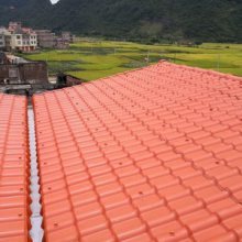 山西忻州屋面树脂瓦 塑料琉璃瓦 别墅装饰用仿陶瓷瓦