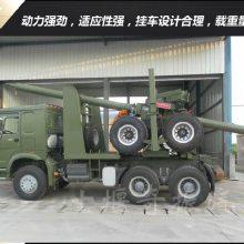 中国重汽HOWO 6x6全轮驱动原木运输车