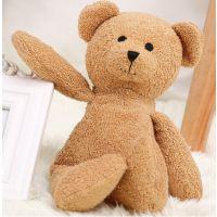 创意暖手毛绒玩具定制礼品熊 玉米粒填充布绒