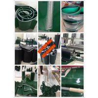 梓印定制-墨绿色PU食品传送带,食品包装传送带,输送机皮带