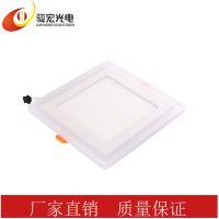 中山市厂家直销方形圆形超薄LED双色面板灯平板灯节能灯暗装LED灯