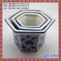 陶瓷花盆陶瓷加厚带托盘彩色花盆陶瓷绿植圆形桌面花盆