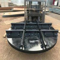 矿车转盘,轨道转盘是矿山矿车循环系统中改变矿车方向的设备,它与其他设备配套使用,便于实现井口机械化运
