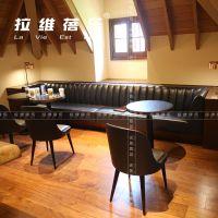 上海星巴克沙发卡座咖啡厅靠墙卡座定做