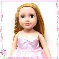外贸爆款18寸美国女孩植发娃娃仿真儿童公仔室内摆件
