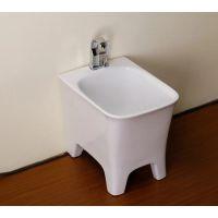 潮州厂家直销方形陶瓷四脚地面安装白色拖把池拖布池