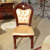海德利定制欧式餐椅实木售楼处洽谈椅酒店家具布艺椅子
