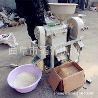 圣鲁去皮碾米机 家用稻谷碾米机 单相电水稻脱壳机