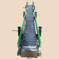 卓远厂家直销输送机 矿泉水用小型可调速不锈钢链板输送机 质优价廉
