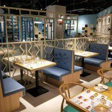 河源北欧风格主题餐厅卡座沙发桌椅定制,河源市餐饮家具批发商
