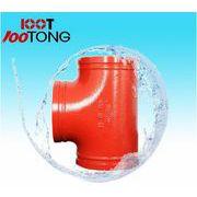 批发亿佰通沟槽管件 114正三通 消防系统专用球墨铸铁管件