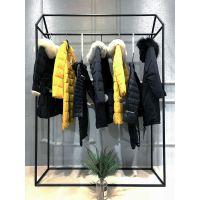 广州一线品牌哥芙妮18年冬装品牌羽绒服 专柜正品尾货批发走份