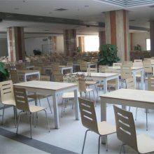 韶关企事业单位钢木饭堂餐桌椅订制