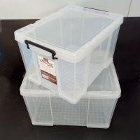 厂家供应收纳箱批发大号加厚塑料储物箱收纳盒透明整理箱价格汽车有盖储物箱15586200459