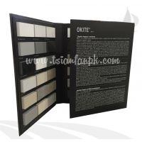 谦帆专业制作纸板石材样品册、瓷砖样板册定做、印刷宣传册 PY113