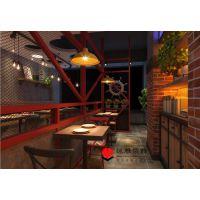 主题餐厅也玩工业风-合肥工业风餐厅设计-肉蟹堡餐厅设计效果图