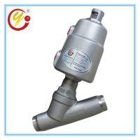 潍坊冠宇厂家直销4分接口灌装设备发泡机械用角座阀 不锈钢焊接式