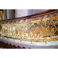 锢雅纯铜雕花镀金护栏,高端别墅专用K金铜艺护栏
