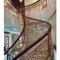 锢雅精雕铝板雕花镂空花格楼梯护栏